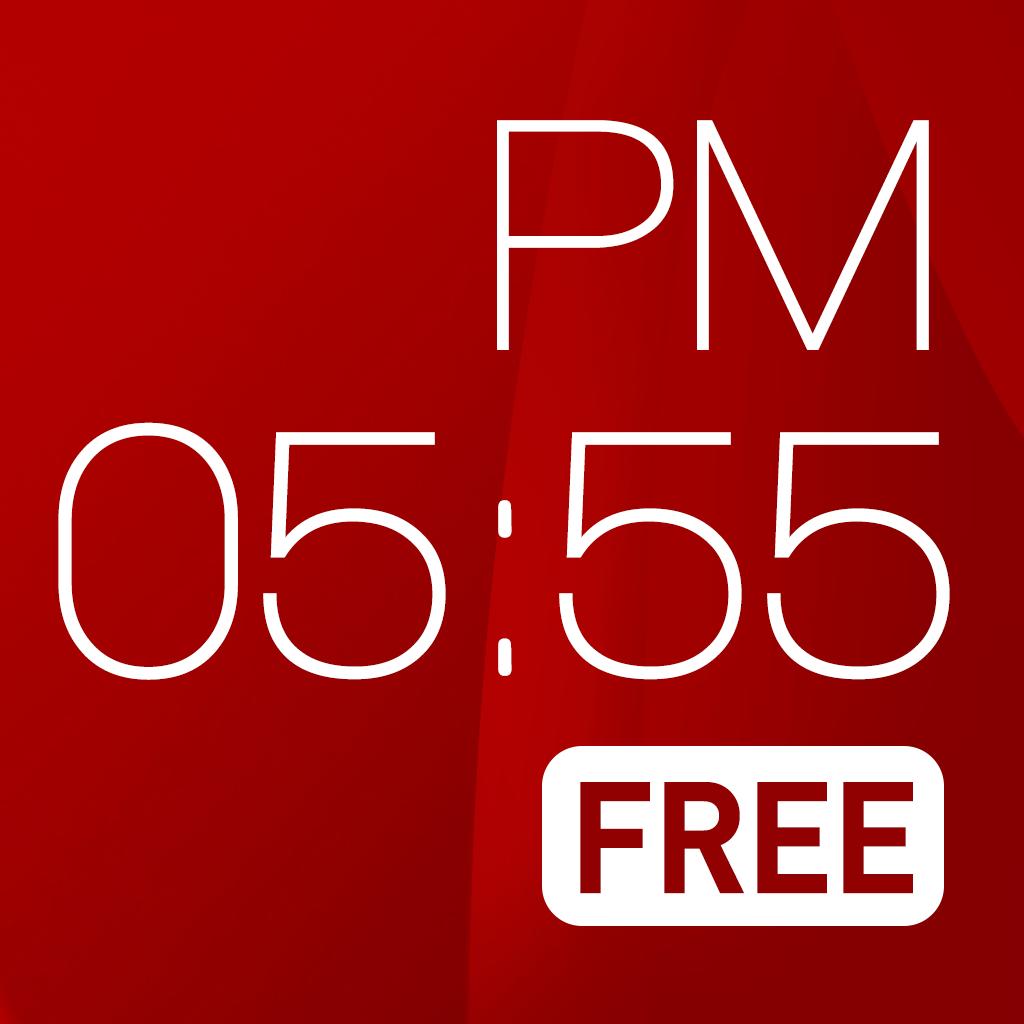 赤い時計 FREE ( 天気とアラーム)